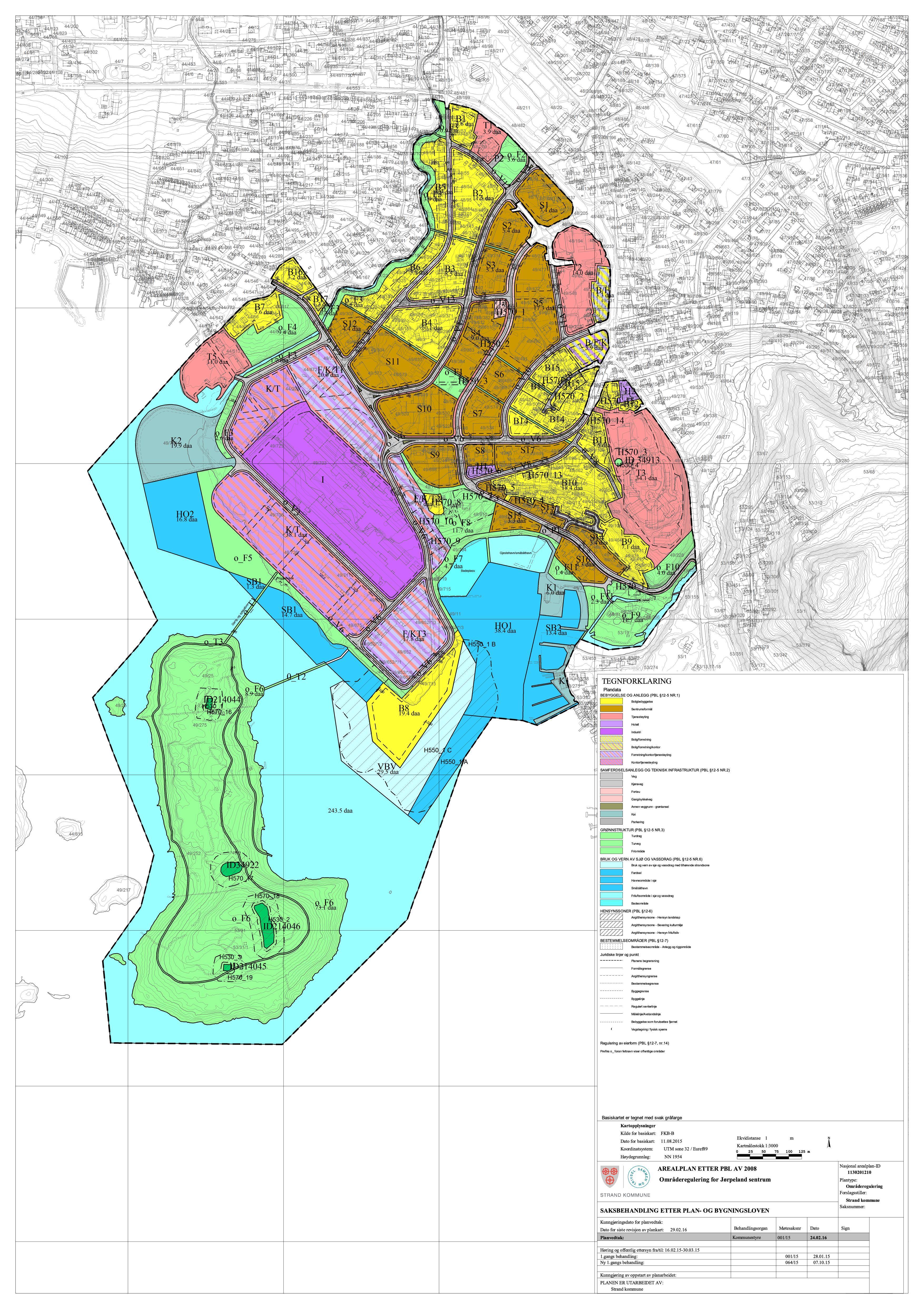 strand kommune kart Godkjent områderegulering for Jørpeland sentrum   Strand kommune strand kommune kart